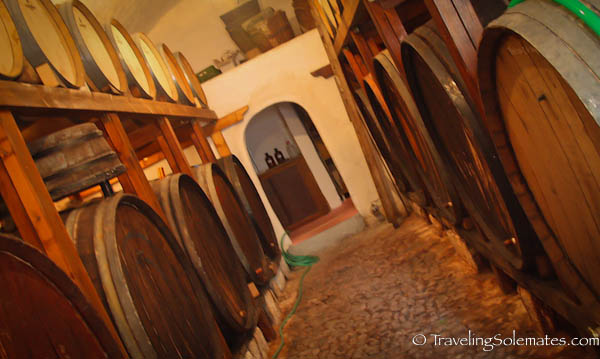 Cellar of Cavallas Winery, Megalohiri, Greece