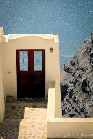 Door to nowhere, Imerovigli, Santorini, Greece