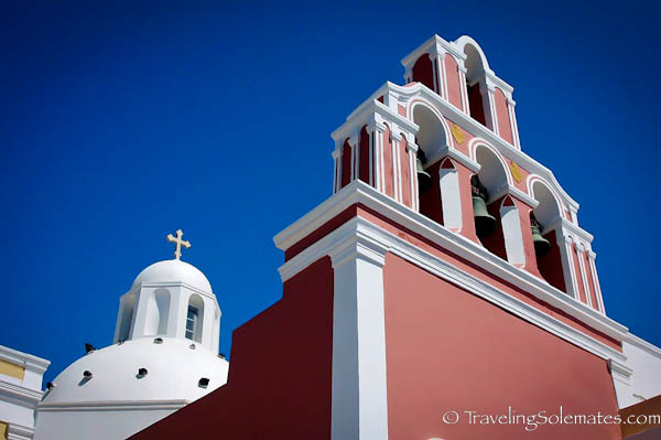 A church in Fira, Santorini, Greece