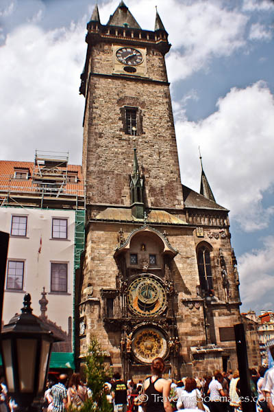 Astronomical Clock on Old Town Hall Tower, Old Town Square (Stare Mesto), Prague, Czech Republic