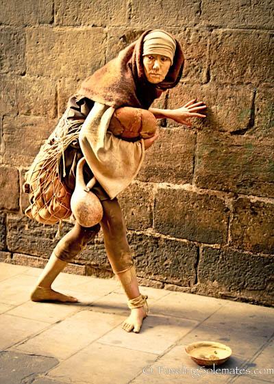 Street Mime, Gothic Quarter, Barcelona, Spain
