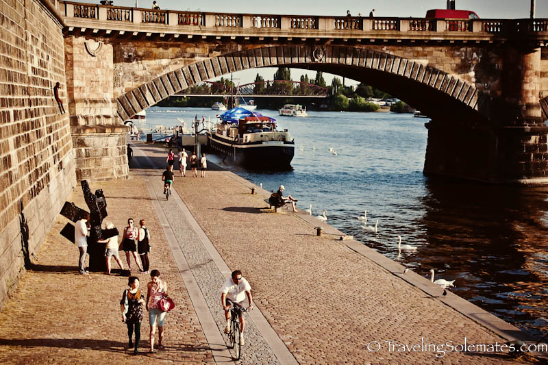Riverside Promenade, Prague, Czech Repubulic