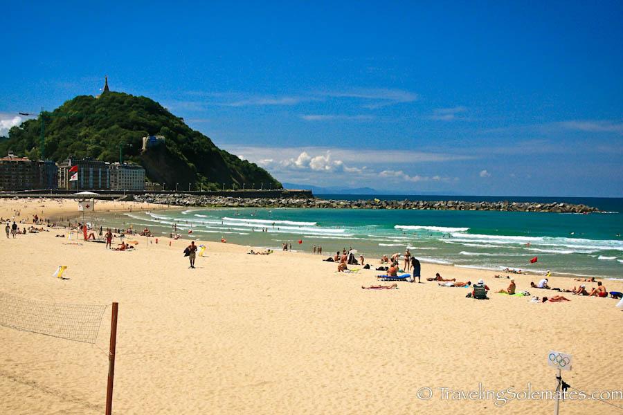 Playa Zurriola, San Sebastian, Spain