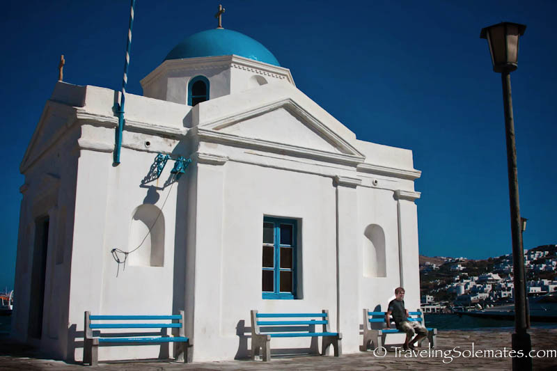 A Church in Old Port, Mykonos, Greece