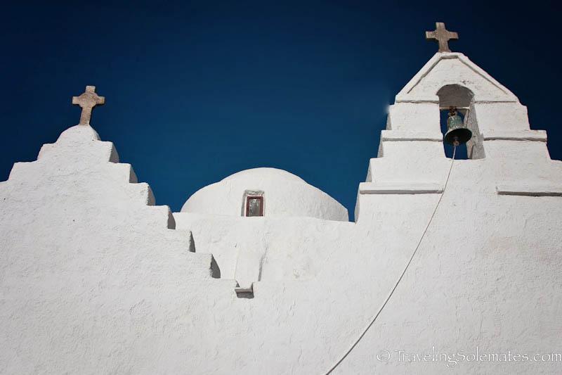 Facade of Church of Panagia ParaportianaLocals, Mykonos, Greece