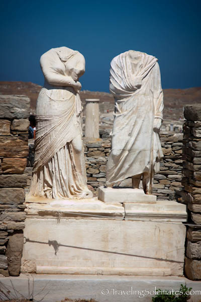 Statues in the House of Cleopatra, Delos, Greece