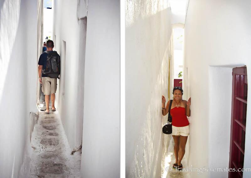 Narrow Alleys, Mykonos, Greece