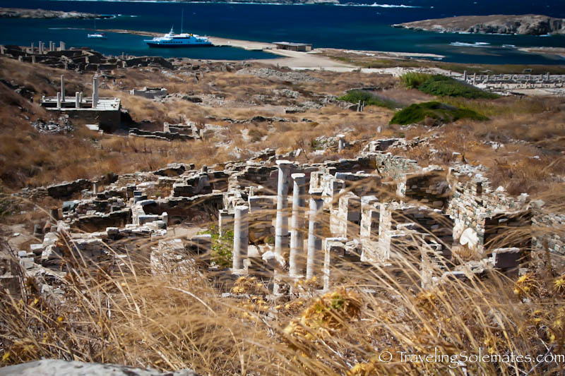Ruins on the Hills, Delos, Greece