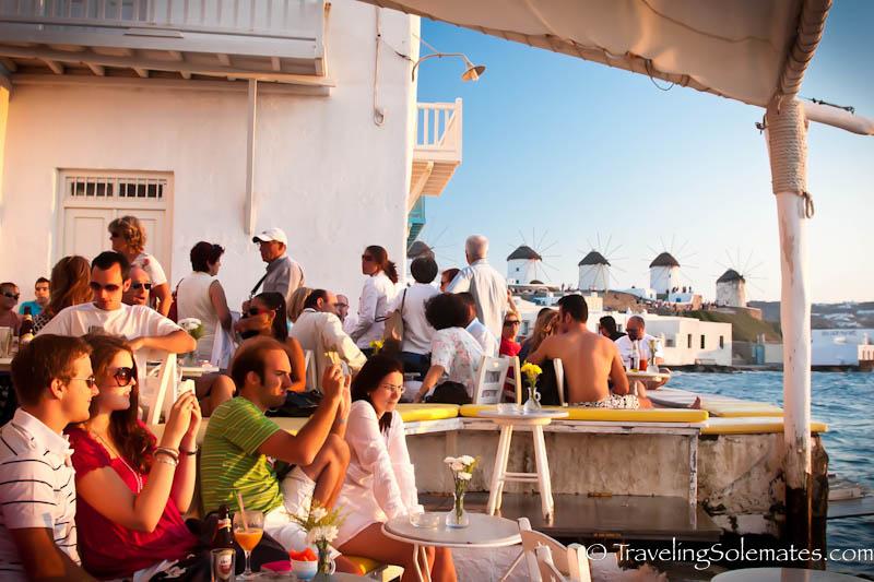 Sunsnet Crowds, Mykonos, Greece