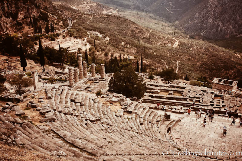 The Theater and Sanctuary,  Delphi, Greece