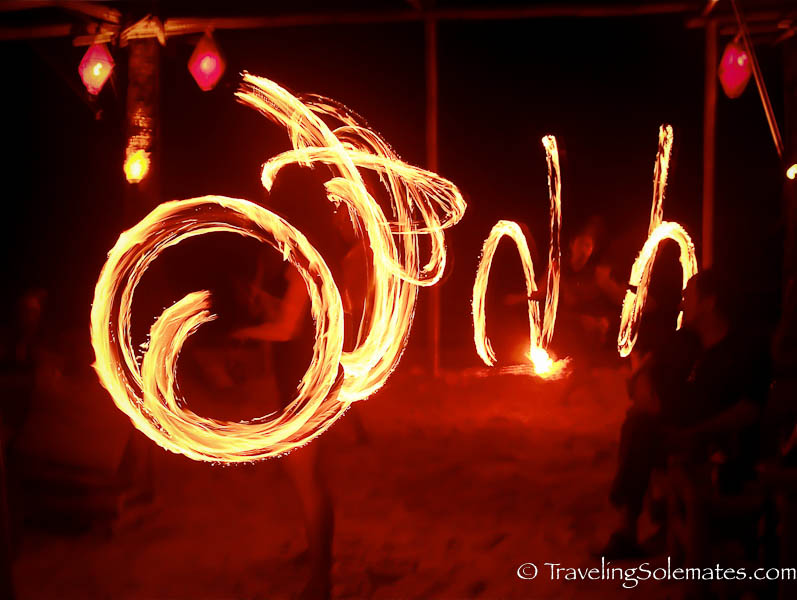 Fire Dancing at Bamboo Lounge, Boracay Island, Philippines