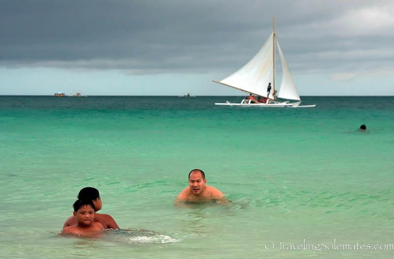 Water of Boracay Island, Philippines