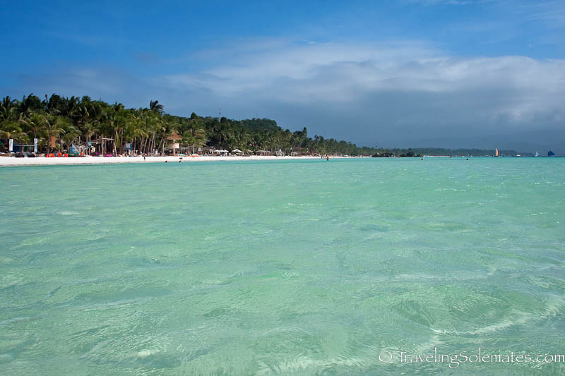 The Water of Boracay Island, Philippines