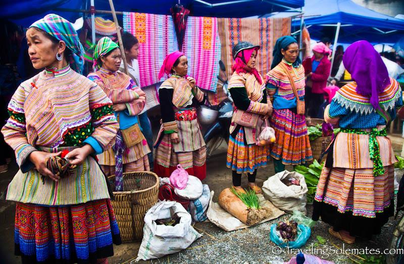 Flower Hmong Vendors, Bac Ha Market, Vietnam