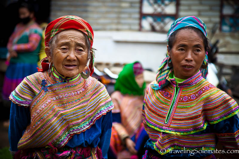 Flower Hmong Women, Bac Ha Market, Vietnam