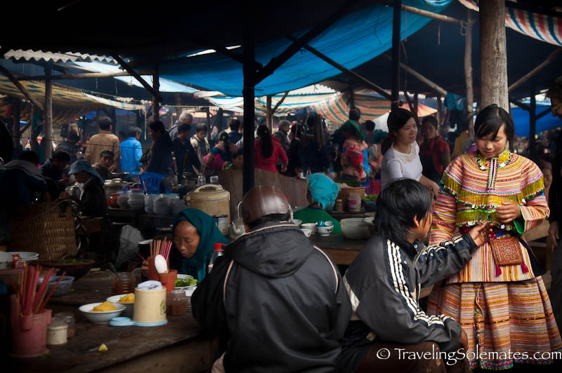Food Court, Bac Ha Market, Vietnam