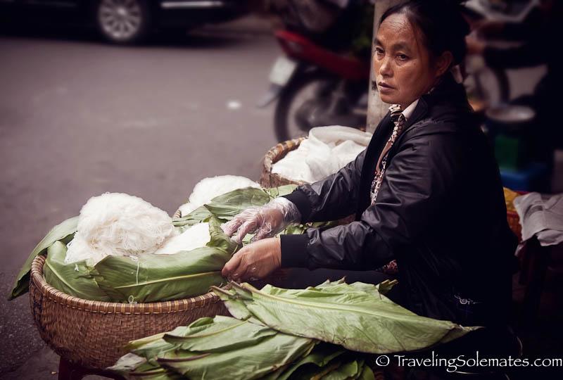 Vermicelli Vendor, Old Quarter, Hanoi, Vietnam