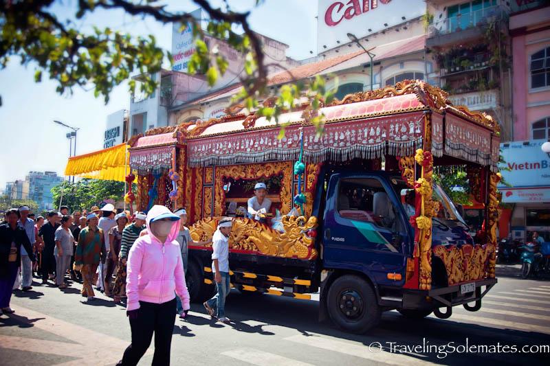 Buddhist Funeral Procession, Ho Chi Minh, (Saigon), Vietnam