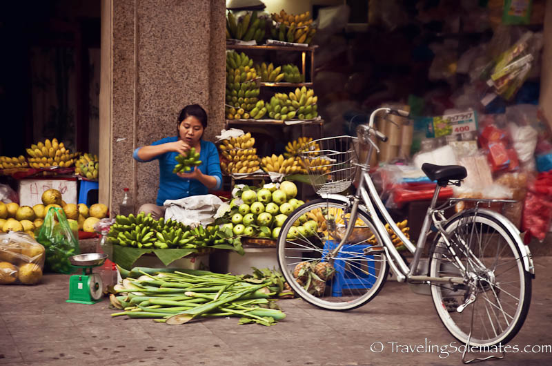 Fruit vendor, Old Quarter, Hanoi, Vietnam