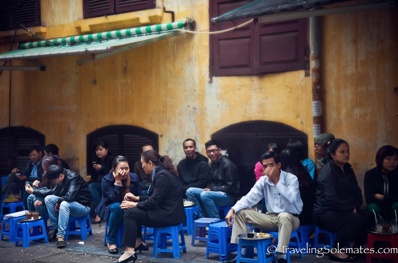 Street cafe, Old Quarter, Hanoi, Vietnam