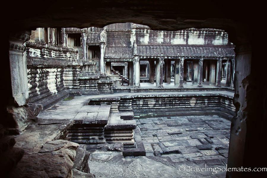 Inside Angkor Wat, Cambodia