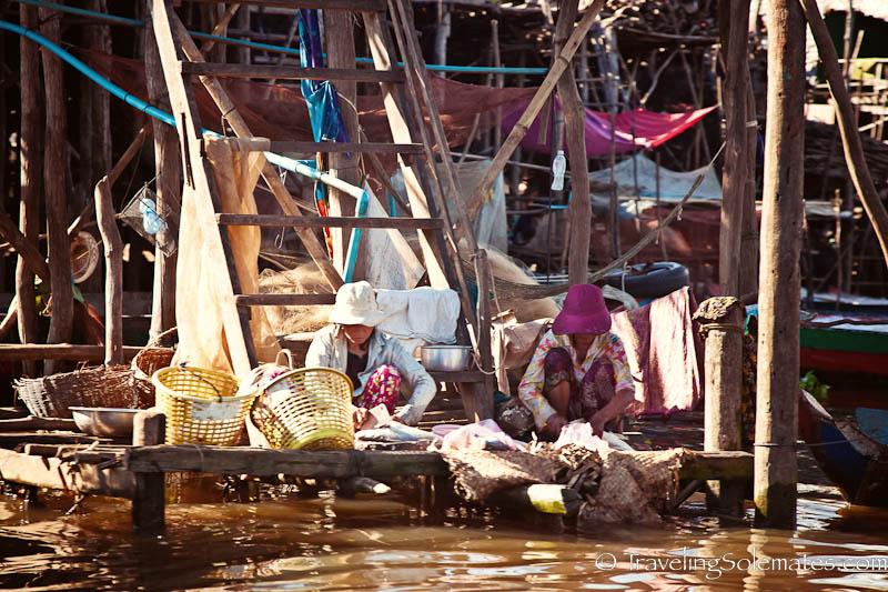 Women in Kompong Phluk, Tonle Sap, Cambodia