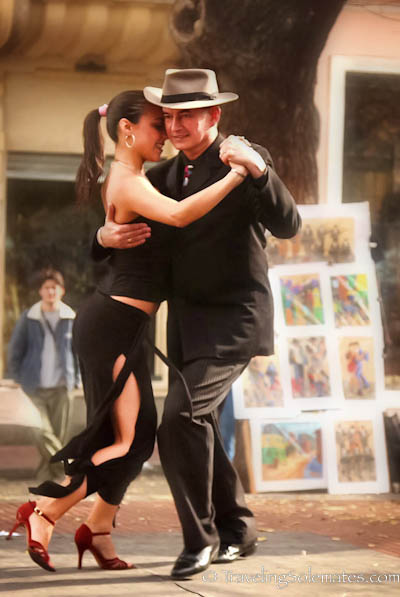 Tango Performance  in Plaza Dorrego, San Telmo, Buenos Aires, Argentina