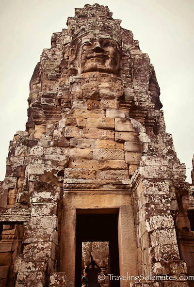 A Face Tower in Bayon Temple, Angkor Thom, Cambodia