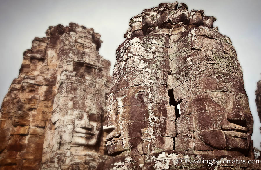 Faces in Bayon Temple. Angkor Wat, Cambodia-