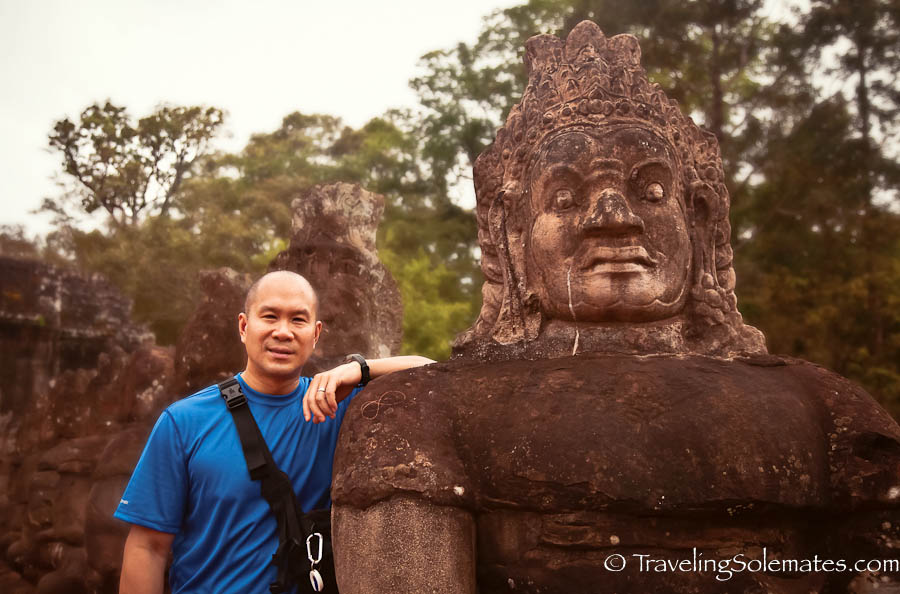 With a Face of  Angkor Thom South Gate, Cambodia