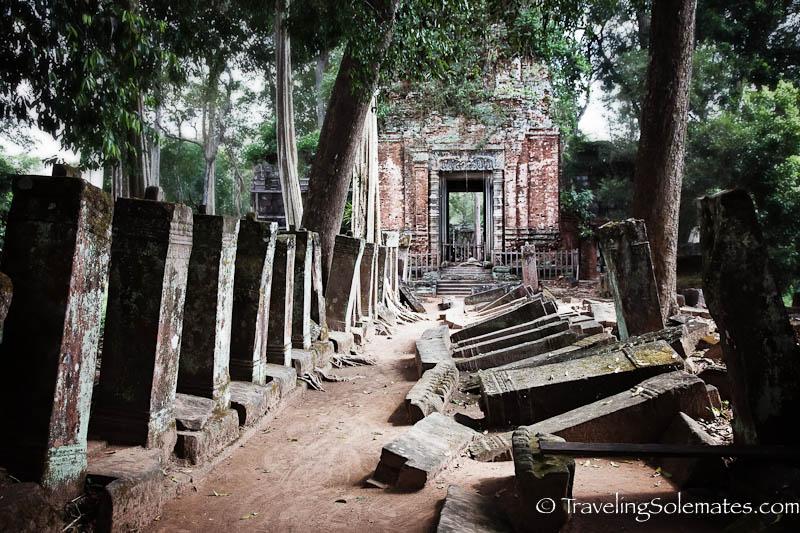 Ruins of Koh Ker in Cambodia,