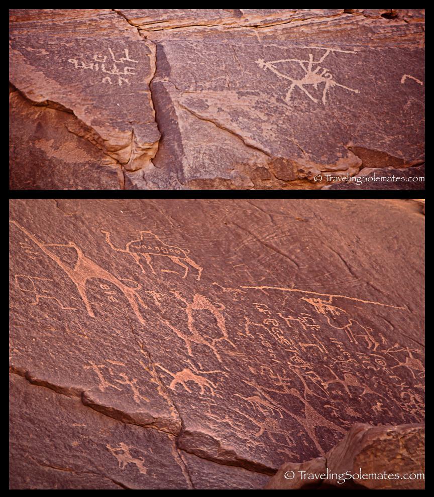 Petroglyps in Wadi Rum, Jordan