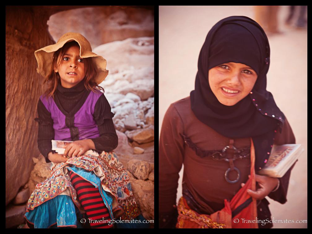 Bedouin Children selling postcards, Petra, Jordan