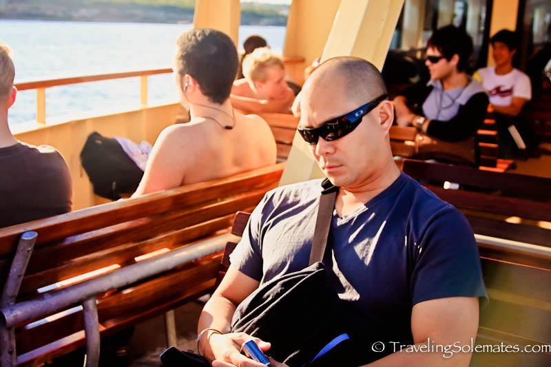 Ferry ride to Manly Beach, Sydney, Australia.