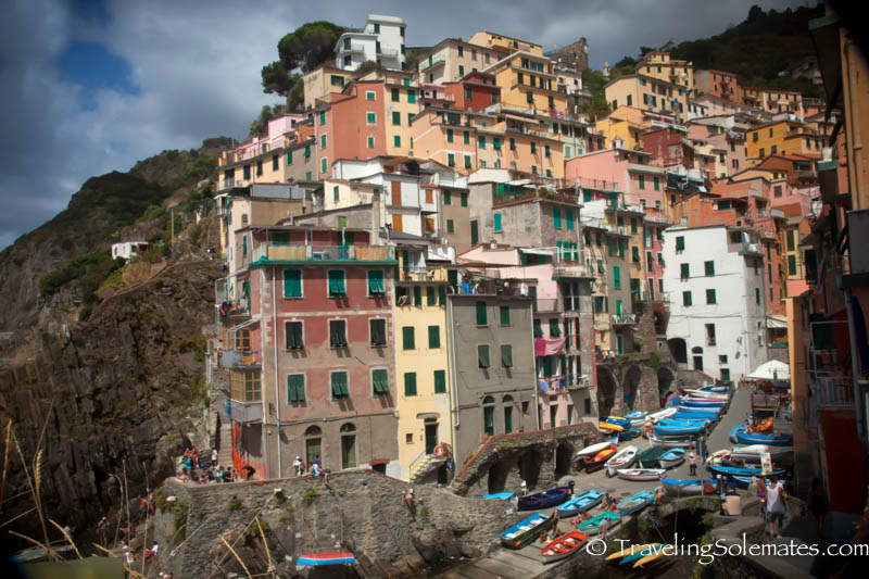 Houses in Riomagiorre, Hiking in Cinque Terre, Italy