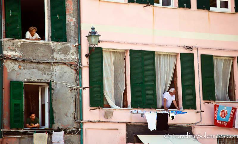 Windows in Vernazza, Cinque Terre, Italy