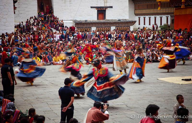 Dromchoe Festival in Tashichho Dzong, Thimphu, Bhutan