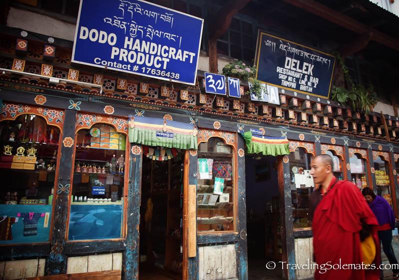 Shops in Thimphu, Bhutan