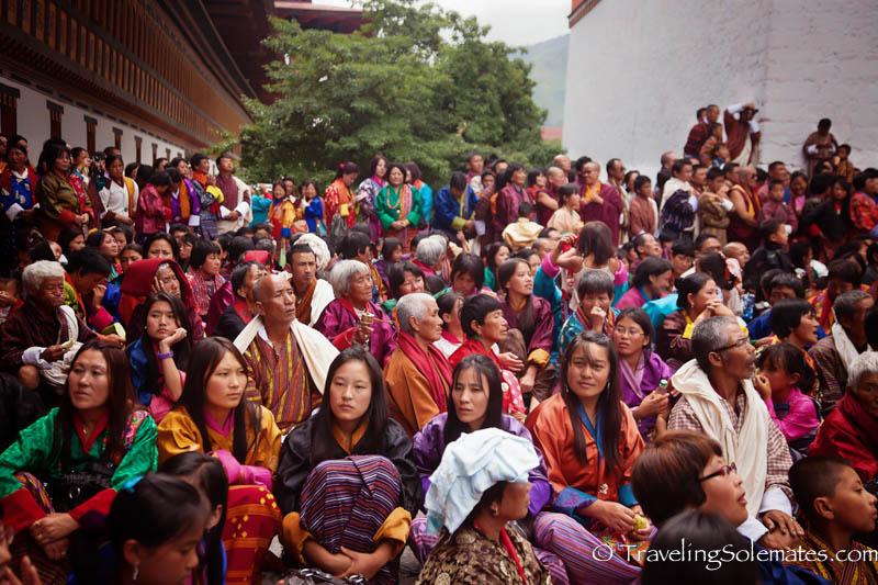 Bhutanese Women in  Dromchoe Festival  Tashichho Dzong, Thimphu, Bhutan