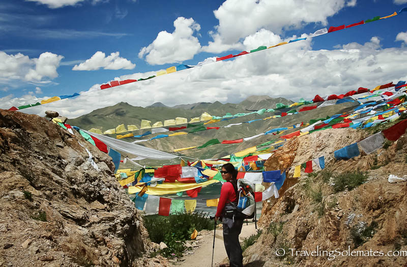 Prayer Flags in Ganden, Tibet