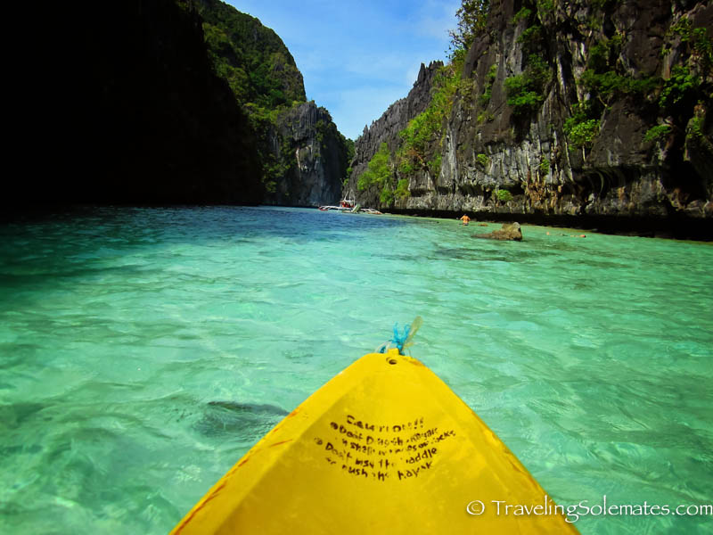 Kayaking in Big Lagoon, El Nido, Philipines