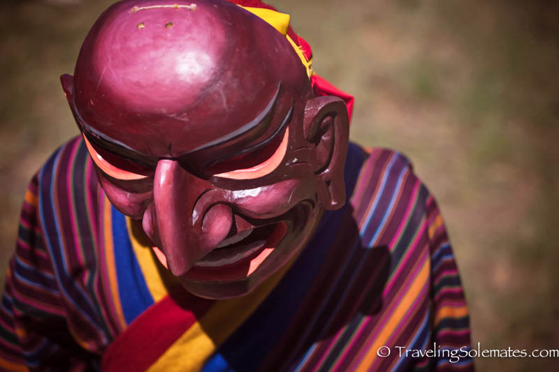 Mask Dancer at Tsechue Festival in Wangdue, Bhutan