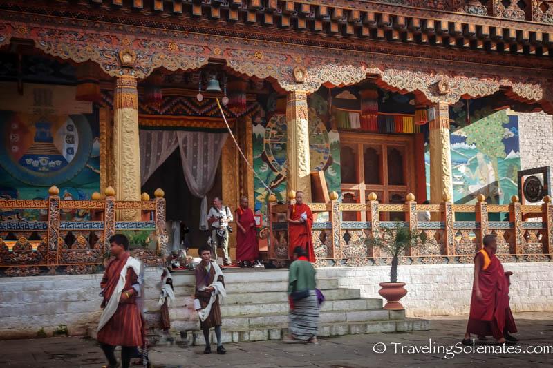 Temple, Punakha Dzong, Bhutan