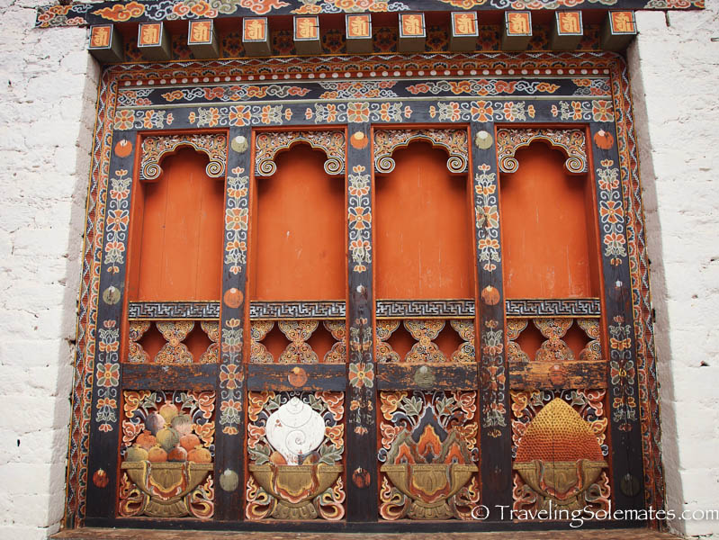 Window, Punakha, Dzong, Bhutan