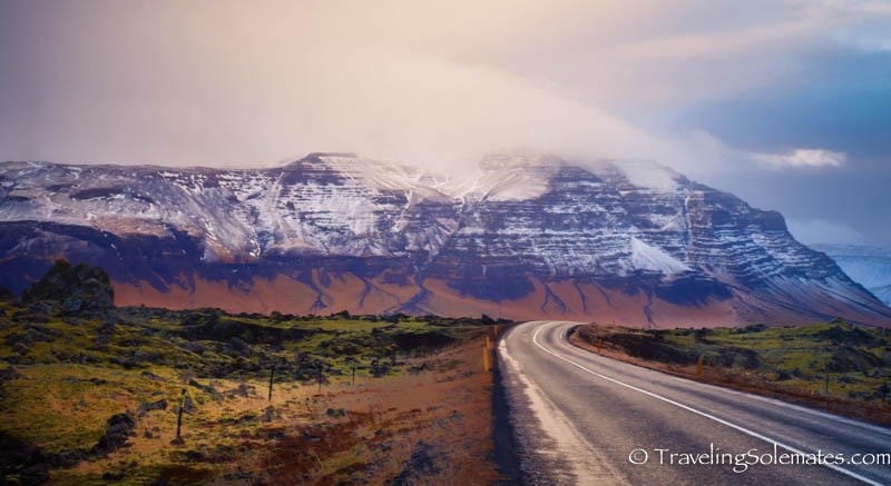 The road in Snaefellsnes Peninsula, Iceland