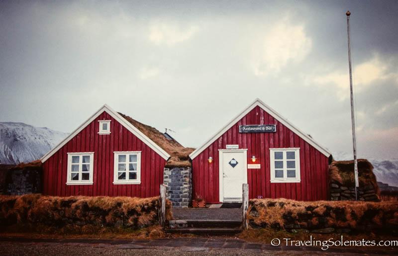 Turf Houses in Arnarstapi, Snaefellsnes Peninsula, Iceland