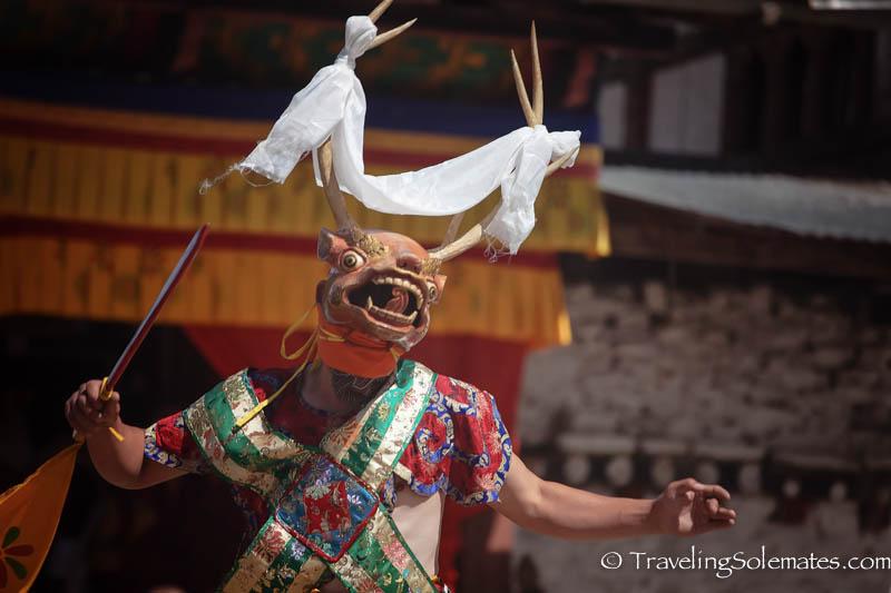 Mask Dance in Tamshing Phala Chhoepa Festival at Tamshi Lhakhang, Bumthang, Bhutan