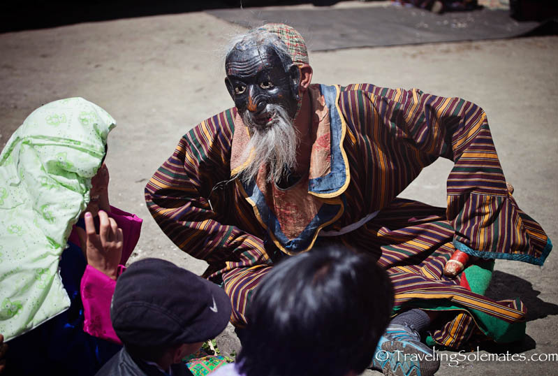 Atsara (clown) in Tamshing Phala Chhoepa Festival at Tamshi Lhakhang, Bumthang, Bhutan