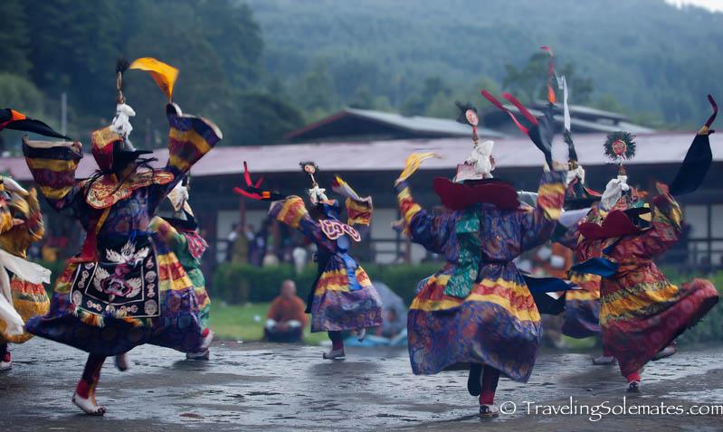 Mask Dances in Tamshing Phala Chhoepa Festival at Tamshi Lhakhang, Bumthang, Bhutan