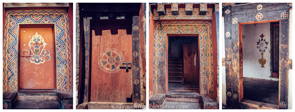 Doors at Trongsa Dzong, Bhutan